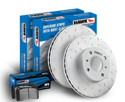 Hawk Performance Rear Slotted HPS Brake Pads Kit - 08-14 Mitsubishi Evolution X 4B11
