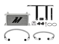 Mishimoto Silver Thermostatic Oil Cooler Kit - 10-12 Hyundai Genesis Coupe 2.0T