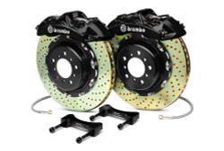 Brembo Black Front Drilled GT Big Brake Kit  - 93-95 Mazda RX-7