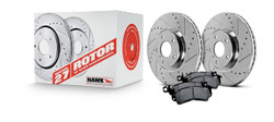 Hawk Performance Section 27 Brake Rotor with HPS 5.0 Pad Rear Kit - 93-95 Mazda RX-7