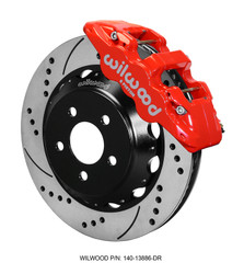 "Wilwood 6-Piston AERO6 Big Brake Kit w/ Red Calipers - 2015 Mustang GT Front (14"" Rotors)"