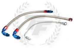 P2M Nissan S13 SR20DET Steel Braided Turbo Line Kit - Top Mount