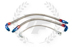 P2M Nissan S14 / S15 SR20DET Steel Braided Turbo Line Kit - Top Mount