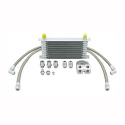 Black Thermostatic Oil Cooler Kit - 02-05 Subaru Impreza STI