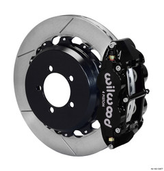 Wilwood Black Forged Narrow Superlite 4R Rear Slotted Big Brake Kit - 08-14 Subaru Impreza STI
