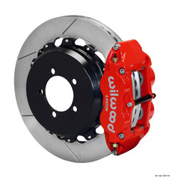 Wilwood Forged Narrow Superlite 4R Rear Slotted Big Brake Kit - 08-14 Subaru Impreza STI