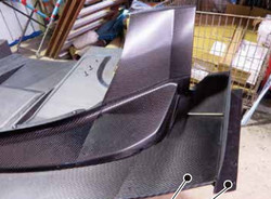 Voltex WTAC Front Wing Extension (Dry Carbon) - 03+ Mitsubishi EVO 8 / 9