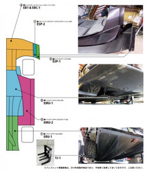 Voltex WTAC Side Skirt (Front Section A) - 03-06 Mitsubishi EVO 8 / 9