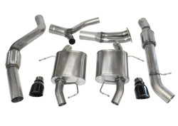 CORSA Sport Cat-Back Exhaust System- Black Tips - 07-12 BMW E90