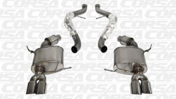 CORSA Polished Sport Cat-Back Exhaust System - 08-12 BMW E90