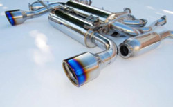 Invidia Gemini Single Layer Cat-Back Exhaust System with Titanium Tip - 2009+ Nissan 370Z