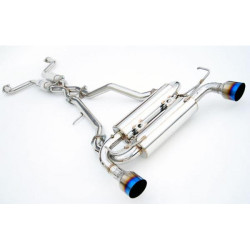 Invidia Gemini Cat-Back Exhaust System with Titanium Rolled Tip - 03-06 Infiniti G35
