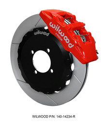 Wilwood Red Forged Dynapro 6 Piston BBK for ND 2016 Miata - Front Slotted Rotor