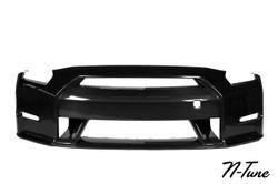 N-Tune CF FRONT BUMPER & SPLITTER - 09-16 NISSAN GT-R R35
