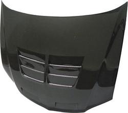 Seibon TSII Carbon Fiber Hood - 03-07 Mitsubishi Lancer EVO 8/9