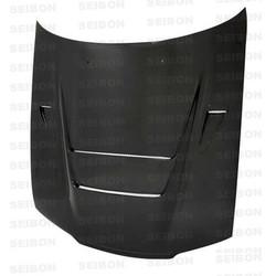 Seibon DVII-Style Carbon Fiber Hood - 90-94 Nissan R32