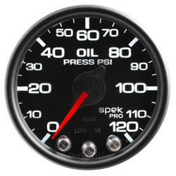 AutoMeter Spek-Pro Black - Oil Pressure 52mm