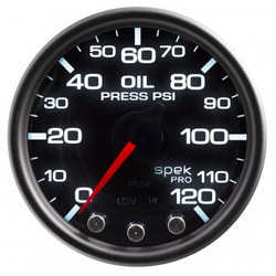 AutoMeter Spek-Pro Smoked - Oil Pressure 52mm
