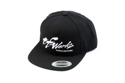 "TF-Works ""Splash"" Snapback Hat - Black with White logo"