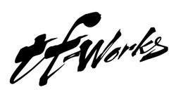 "TF-Works ""Splash"" Small Sticker - Black"