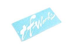 "TF-Works ""Splash"" Small Sticker - White"