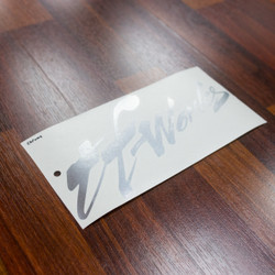 "TF-Works ""Splash"" Small Sticker - Chrome"