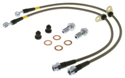 StopTech Stainless Steel Front Brake Lines 2015 Ford Mustang Base/V6/GT w/ 320mm & 352mm Front Discs