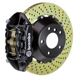 Brembo GT Black Drilled 4-Piston Rear Big Brake Kit  - 15-17 Ford Mustang GT V8