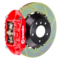 Brembo GT Red Slotted 4-Piston Rear Big Brake Kit - 15-17 Ford Mustang GT V8