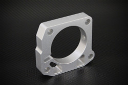 Torque Solution Throttle Body Spacer (Silver/Red) - 00-05 Honda S2000