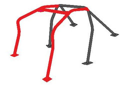 Cusco Roll Cage - Safety 21 6pt Dash Escape w/ Harness Anchor - 00-03 Honda S2000