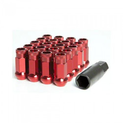 Wheel Mate Monster Open End Lug Nuts M14x1.50 (Set of 20) - Red Chrome