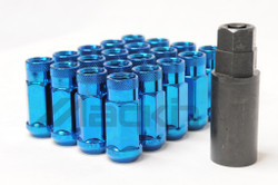 Wheel Mate Monster Open End Lug Nuts M14x1.50 (Set of 20) - Blue Chrome