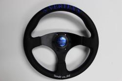 VERTEX STEERING WHEEL 325MM BLUE FLAT