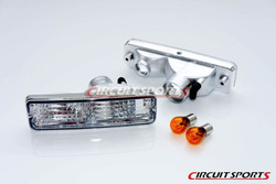 Circuit Sports - FRONT TURN SIGNALS (CLEAR) - NISSAN 240SX/180SX ('91-94 S13) -JDM