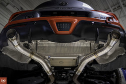 TF-Works A90 Toyota Supra Muffler Delete Axle Back Exhaust - Race