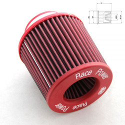 "BMC Twin Air Conical Air Filter with Metal Top:  5"" inlet"