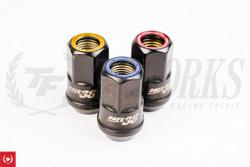 Muteki HR38 Open End Lug Kit (Black Chrome) W Ring