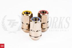 Muteki HR38 Open End Lug Kit (Titanium Chrome) with Ring