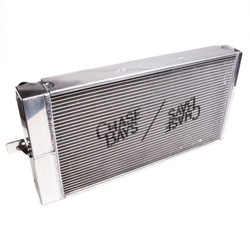 Chase Bays Tucked Aluminum Radiator - 240sx S13 / S14 / S15 and R32 w/ Raceline Fans
