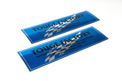 *Touge Factory Spirit of Racing Slap Stickers - Blue Chrome