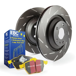 EBC Rear Brake Package: YellowStuff Pads and USR Slotted Rotors - Nissan 240sx S13 S14
