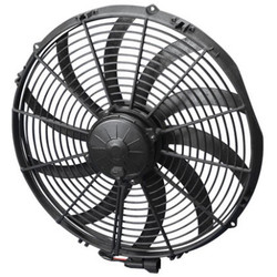 SPAL 16in High Performance Race Fan - Puller / Curved S Blade Electric Fan - 2467 CFM