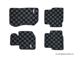 P2M BMW E36 3-SERIES 2D RACE FLOOR MATS : DARK GREY (FRONT/REAR)