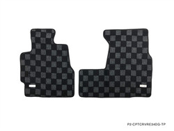 P2M HONDA CRV 1995-01 (RD1/2) FRONT + REAR RACE FLOOR MATS : DARK GREY (AUTOMATIC TRANS)
