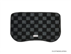P2M TESLA MODEL 3 Front TRUNK CHECKERED MAT : DARK GREY