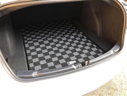 P2M TESLA MODEL 3 TRUNK CHECKERED MAT : DARK GREY