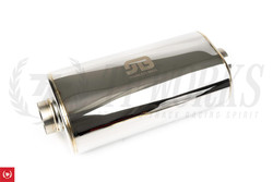 "Stainless Bros SS304 Oval Muffler 17"" OAL - Polished Finish"
