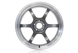 "Yokohama Advan R6 18"" - Machining & Racing Hyper Black"