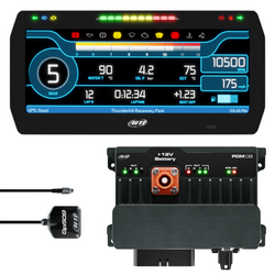 "AiM Sports PDM08 with 10"" Race Icons Display GPS Data Logging Kit"